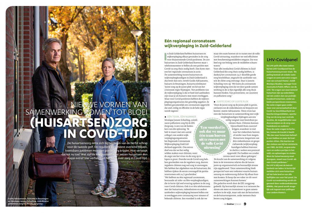 Huisartsenzorg in COVID-tijd - De Dokter decmeber 2020